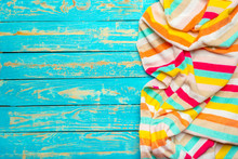 Summer Beach Towel On Colored ...