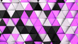 canvas print picture - Pattern of black, white and purple triangle prisms