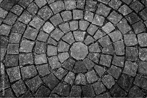 Old  square  paved  with  cobblestones Wallpaper Mural