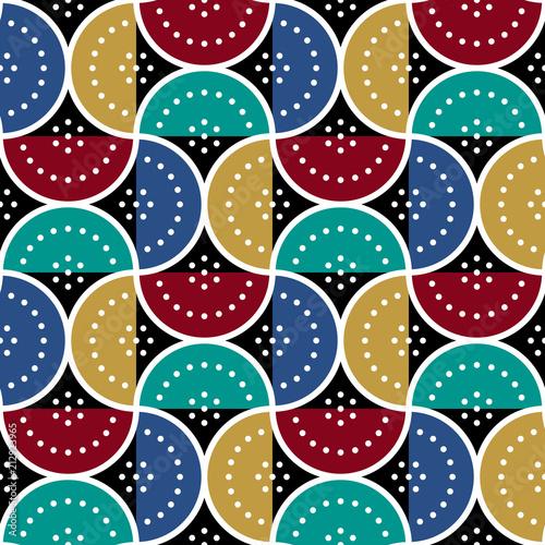 geometryczny-wzor-z-polkola-i-kropek-kolorowe-abstrakcyjne-tlo