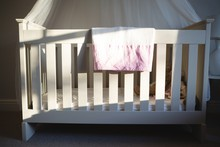 Wooden Cradle At Home