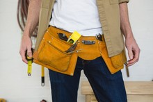 Male Carpenter With Tool Belt ...