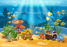 Underwater Treasure, Chest At ...