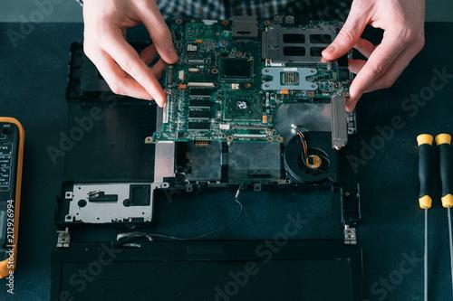 Fototapeta technology microelectronics science education