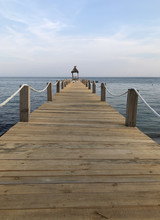Wooden Pier At The Ocean