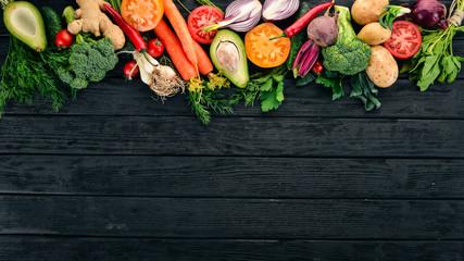 Healthy food. Vegetables an...