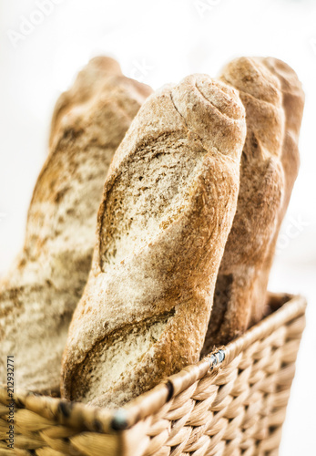 Foto op Aluminium Brood mixed french organic french baguette bread in bakery display