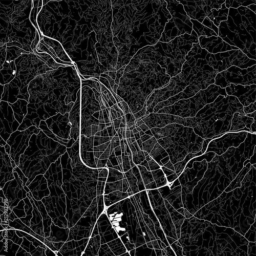 Fotografie, Obraz Area map of Graz, Austria