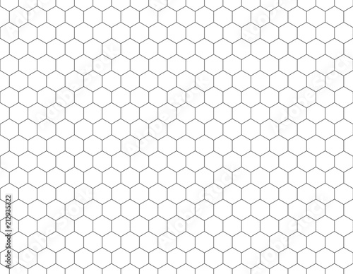 Obraz na plátně White hexagons shape pattern background