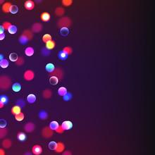 Stock Vector Illustration Abstract Background Bokeh. Blurred Focus, Christmas Lights. Many Lights, Bokeh, Boke, Bokehs. EPS10