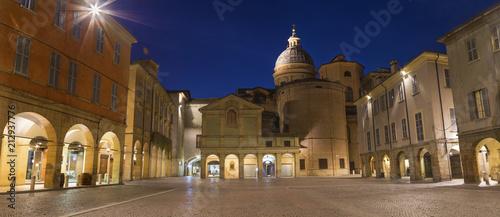 Reggio Emilia - The square Piazza San Prospero at dusk.