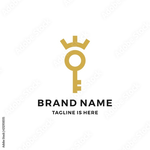 Foto  royal king key crown logo vector download