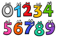 Basic Numbers Cartoon Characte...