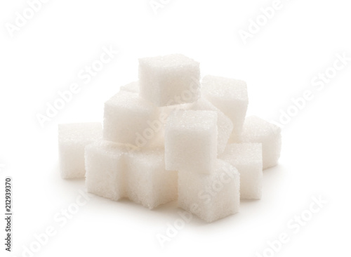 Obraz na plátně  Sugar Cube on white background