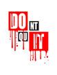 graffiti tropfen spray power motivation spruch cool ausdauer fitness text logo don't quit nicht aufgeben do it tue es schreiben sport durchhalten stark willenskraft schaffen besiegen