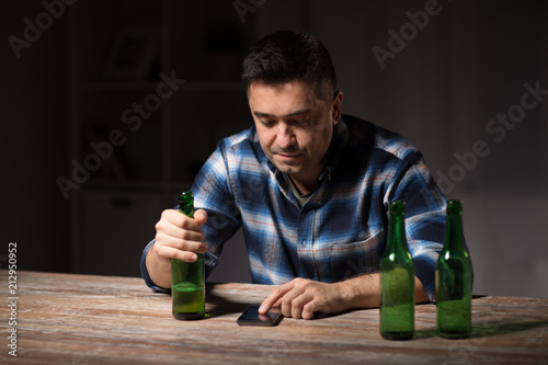 Alcoholism Alcohol Addiction And People Concept Drunk Man With