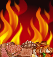 A Steak And Fire Border