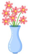 Flower Vase On White Background