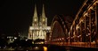 Cologne skyline night time