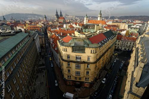 Photo  プラハの街並み
