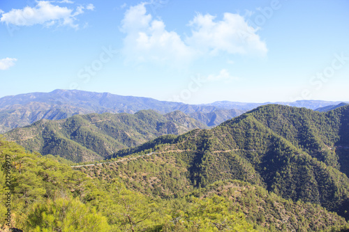Beautiful view of the green hills of Cyprus