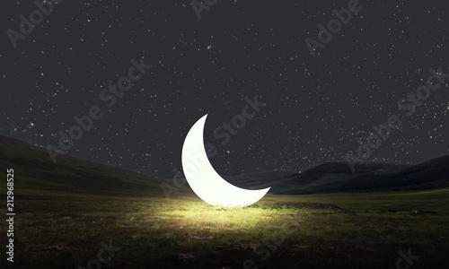 Obraz Pensando en la luna - fototapety do salonu