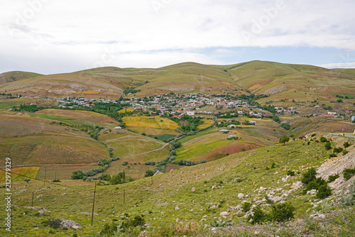 Mountain village in Turkey. Beautiful countryside landscape. Buyuk tatlar, tatli, afsin, Kahramanmaras