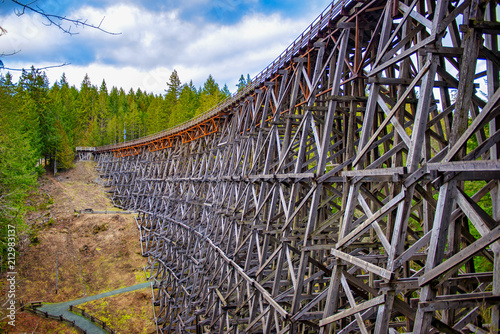 Kinsol Trestle wooden railroad bridge in Vancouver Island Fototapet