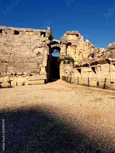 Foto op Aluminium Oude gebouw ancient ruins in Antalya Turkey