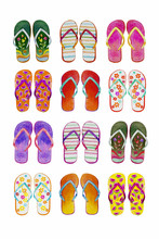 Summer Flip-flops Set Of Color...