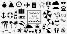 Vector Black And White Summer ...
