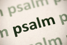 Word  Psalm  Printed On Paper Macro