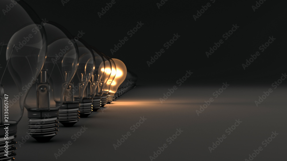 Fototapety, obrazy: Glowing Light Bulb