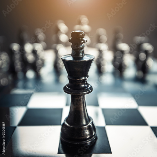 Cuadros en Lienzo  chess board game for ideas and competition and strategy, business success concep