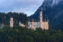 Neuschwanstein Castle, Schwangau, Ostallgau, Allgau, Swabia, Bavaria, Germany, Europe