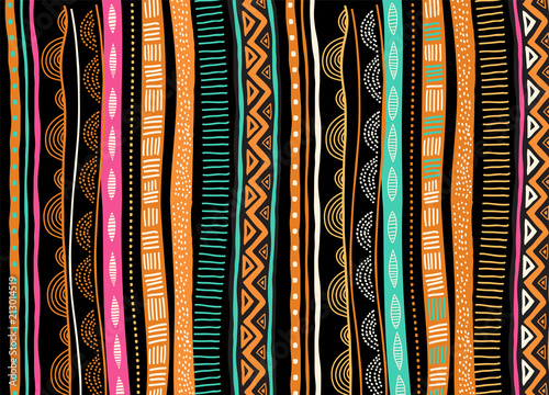 African background, flyer with tribal traditional pattern. Concept design - fototapety na wymiar