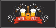 Beer Festival Banner, Event Poster, Promotion