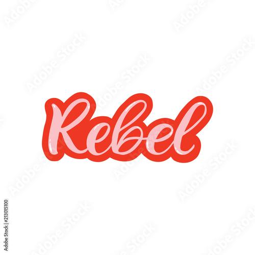 Fotografija  Hand drawn lettering sticker