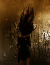 3d Illustration Of Ghost Woman...