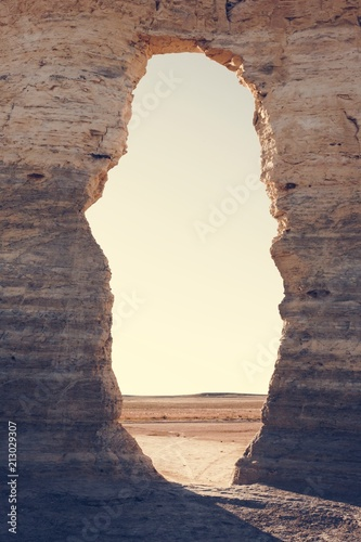 Photo  The Beautiful View of Monument Rocks