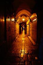 Old City Jerusalem At Night Israel