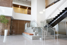Atrium Lobby And Stairs In A M...