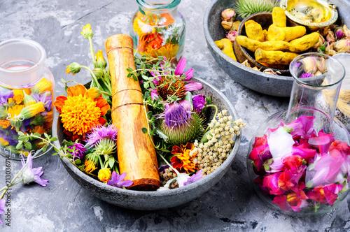 Photo  Alternative herbal medicine
