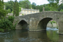 View Of The Bridge Near Iford Manor, Iford Near Bradford Upon Avon, Wiltshire, UK