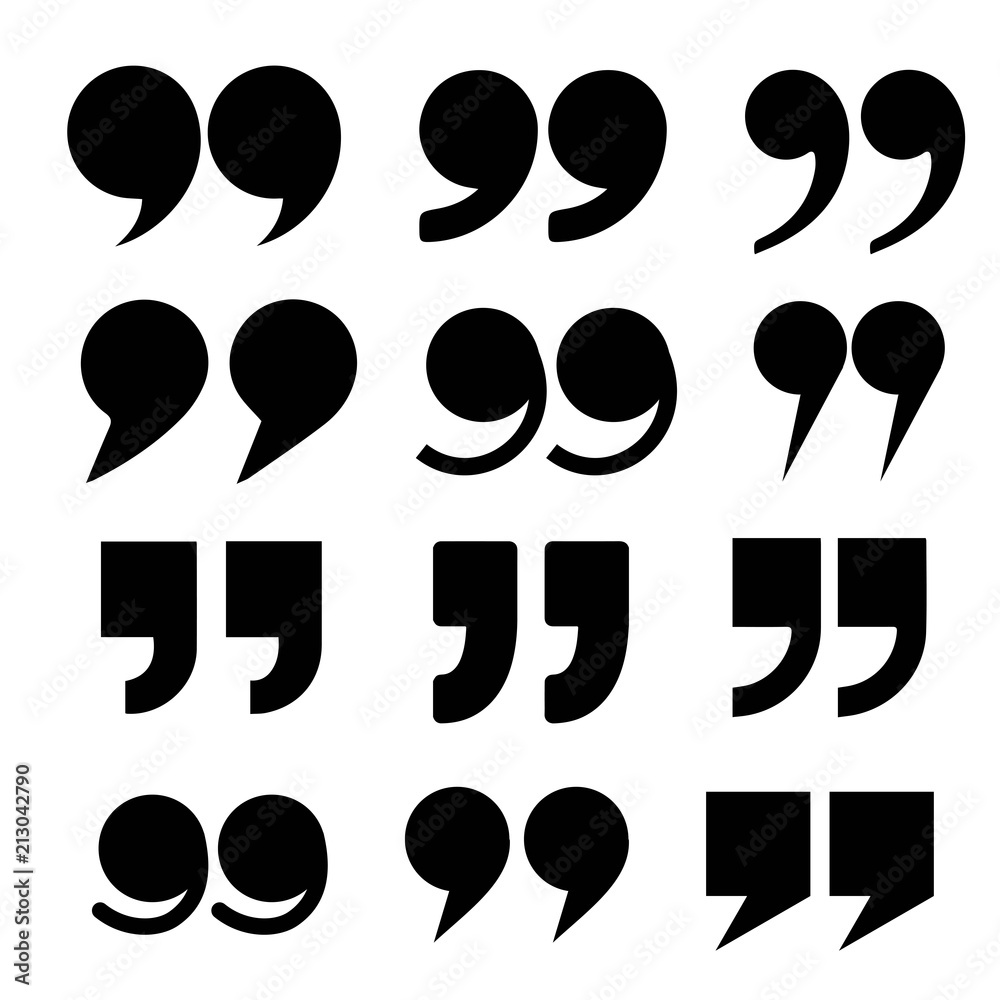 Fototapety, obrazy: Quote mark icon vector set, collection