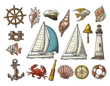 Anchor, Wheel, Sailing Ship, C...