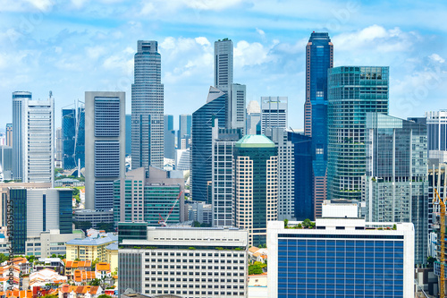 Singapore business and residential areas