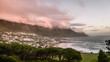 canvas print picture - Sunset to Camp Bay, Western Cape, Cape town,South Africa