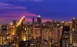scenic of night urban cityscape skyline