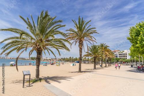 Roses beach on Cape Creus in Spain
